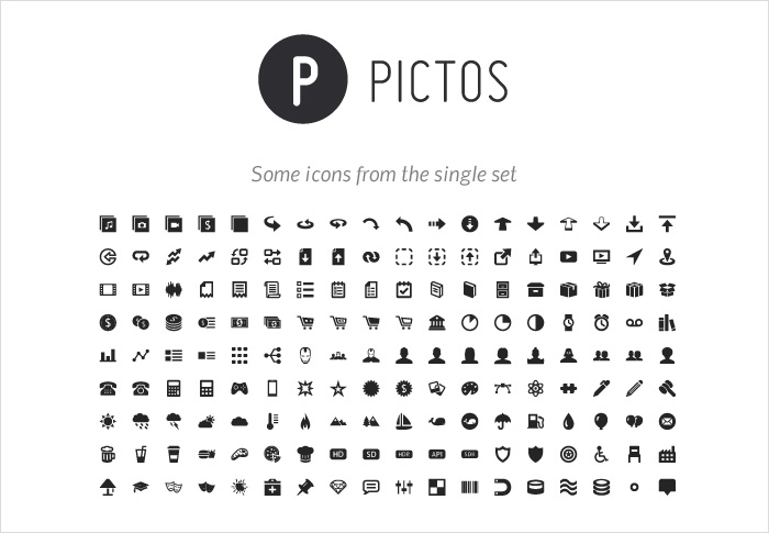 pictos stock icons shop