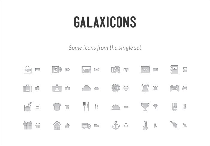 galaxicons stock icons shop