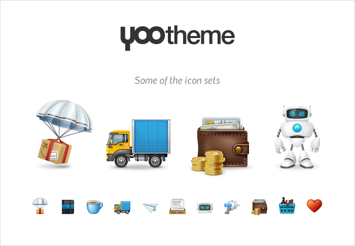 YOOtheme stock icons shop