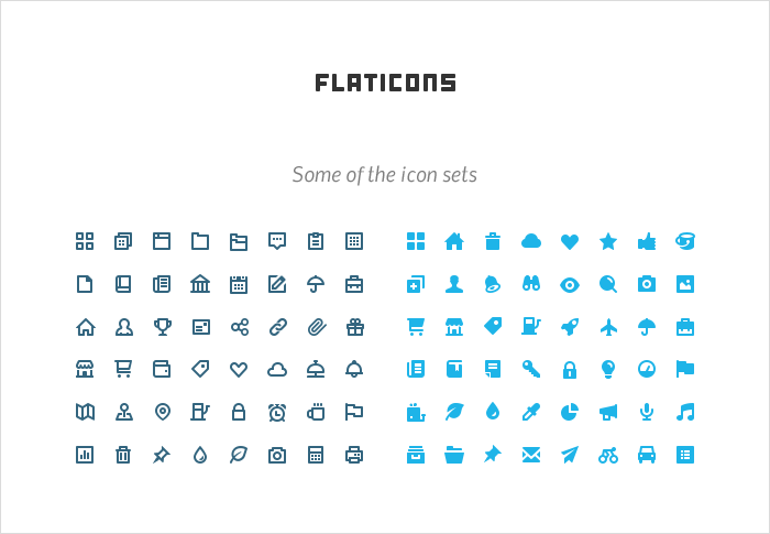 Flaticons stock icons shop
